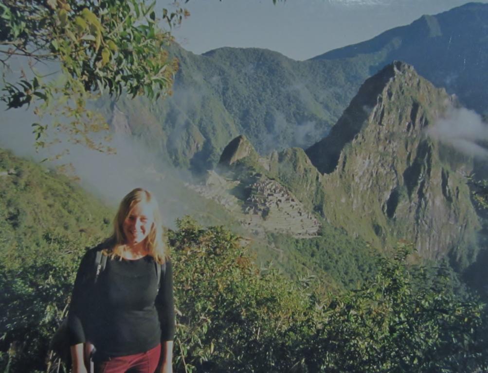 Sarah auf dem Macchu Pichu in Peru