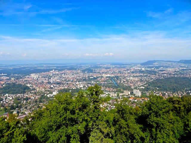 Sicht vom Gurten über die Stadt Bern.