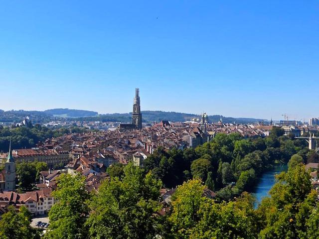 Sicht von Rosengarten über Bern.