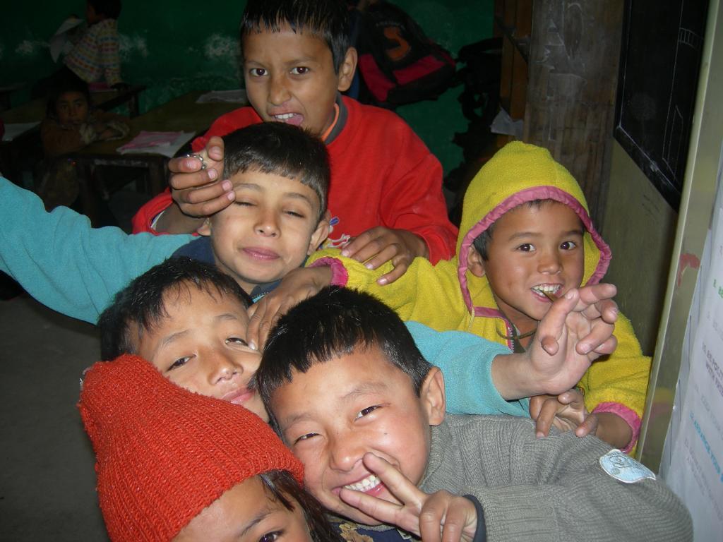 In der Schule im Strassenkinderhilfswerk