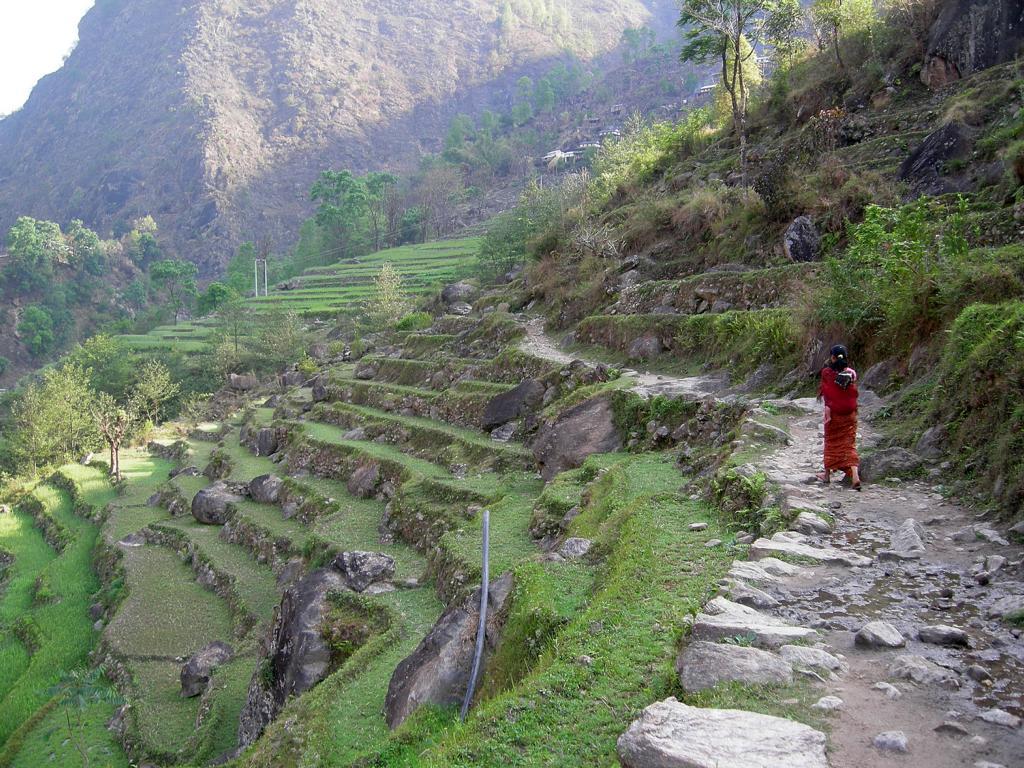 Zu Beginn des Annapurna Trekkings in Nepal