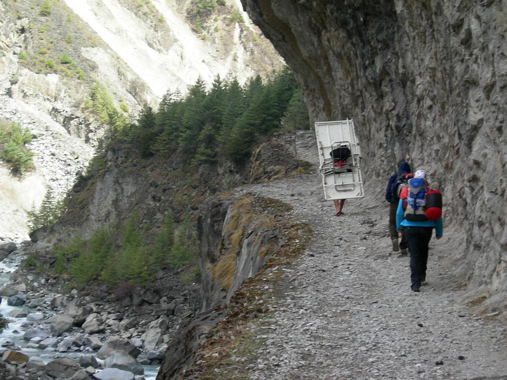 auf dem Annapurna Trek