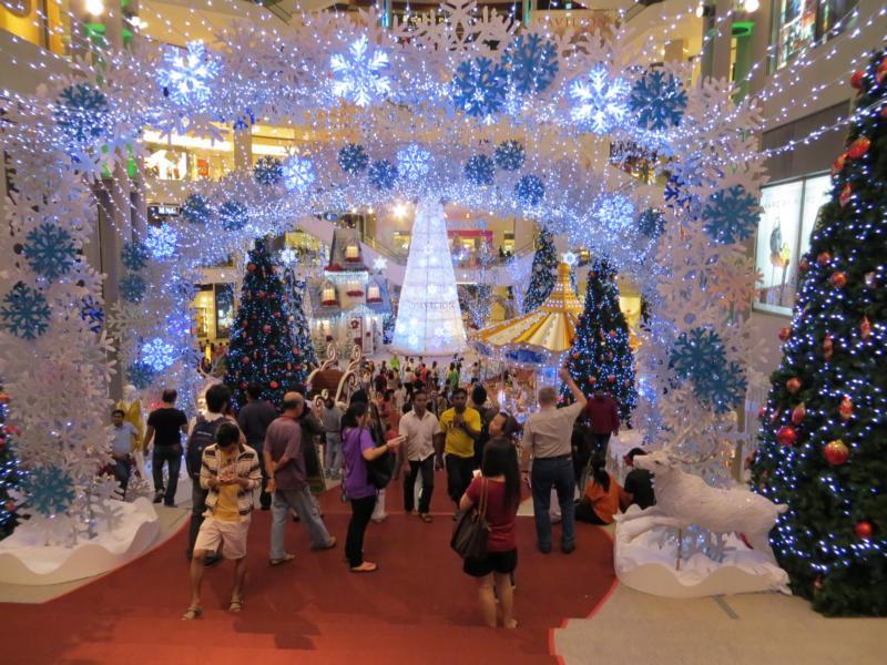 Kuala Lumpur zur Weihnachtszeit