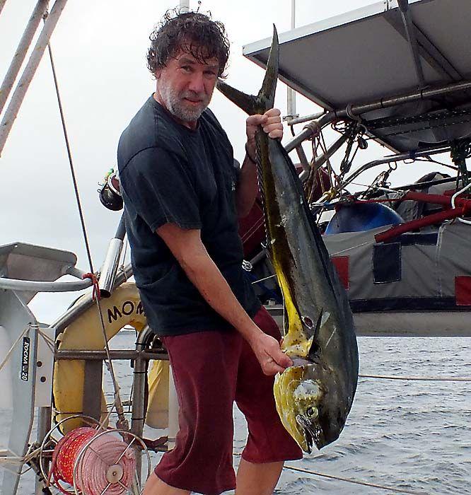 Fischen auf dem Segelboot