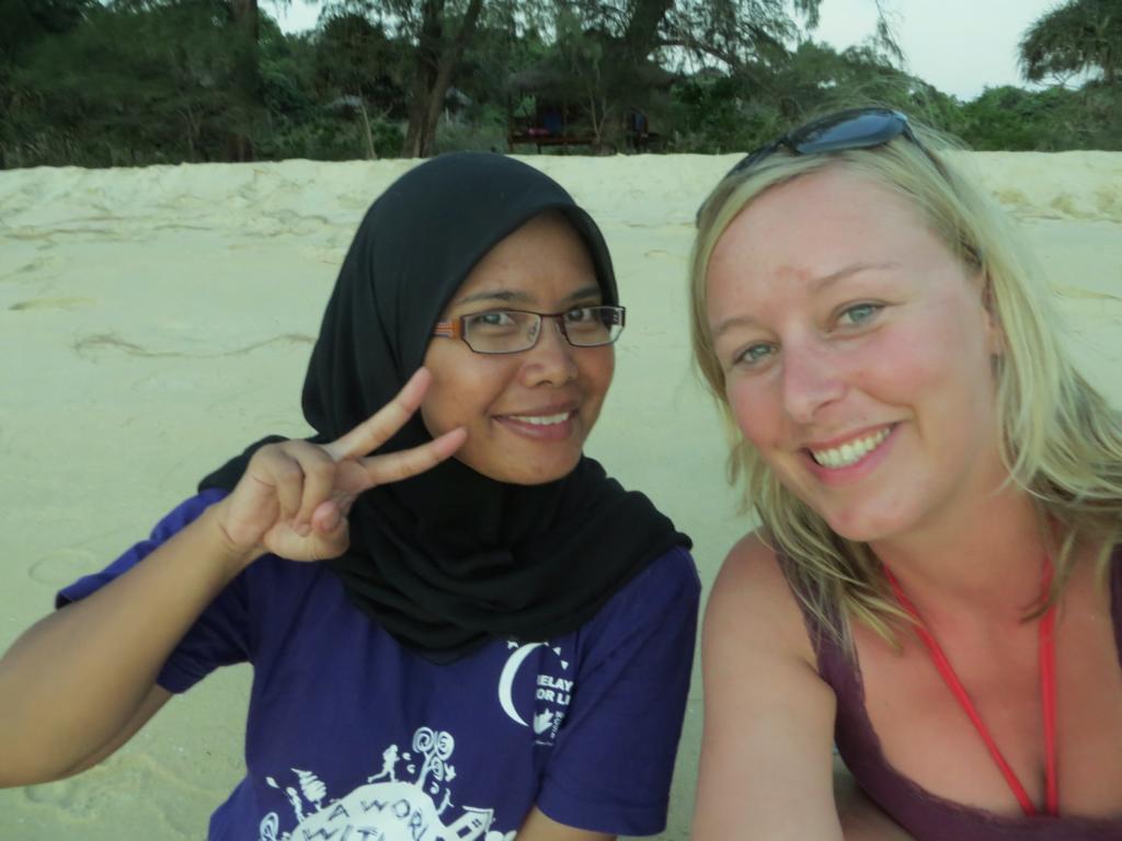 mit Lina auf Koh Rong Samloem