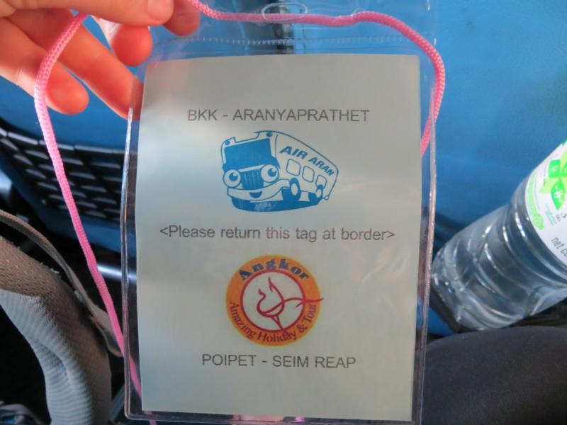 Bereit für den Grenzübergang Thailand-Kambodscha
