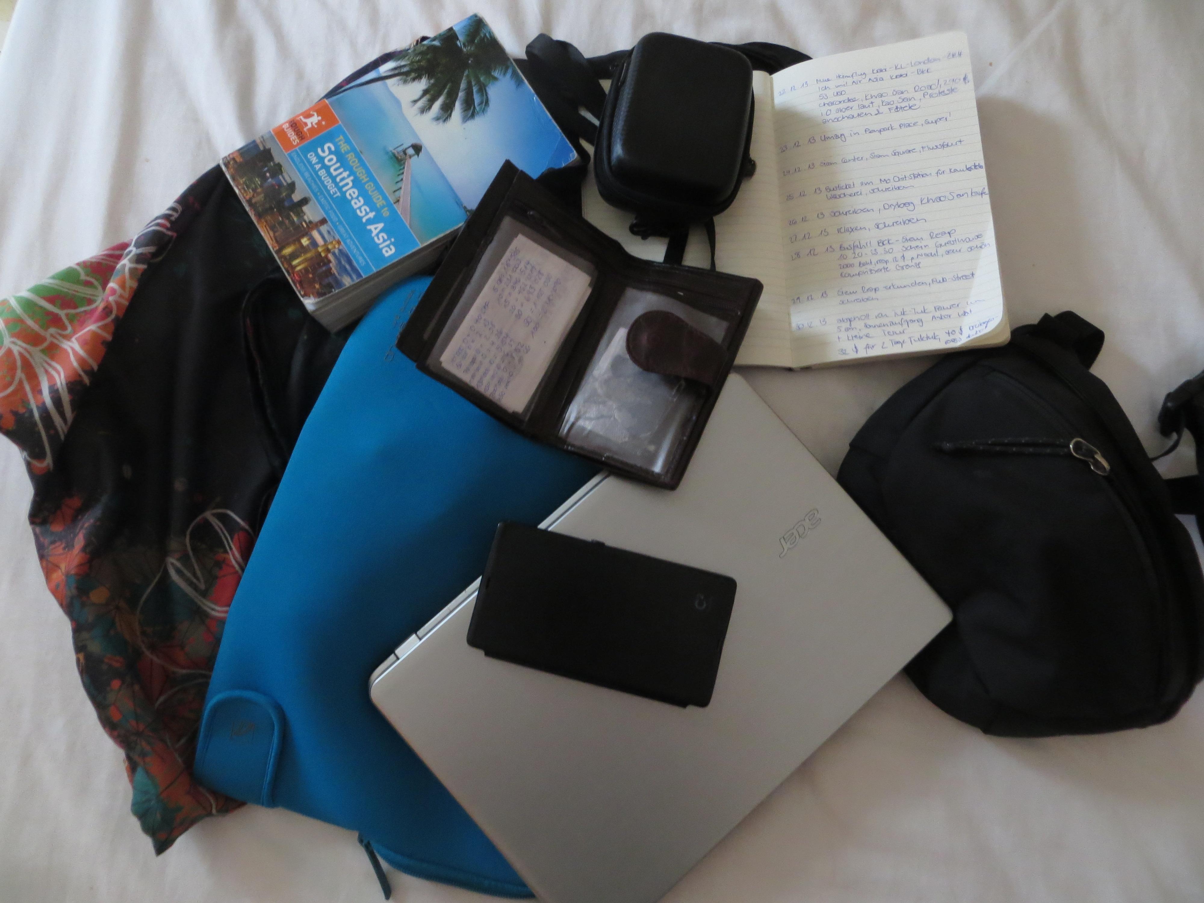 Mein heutiges Gepäck