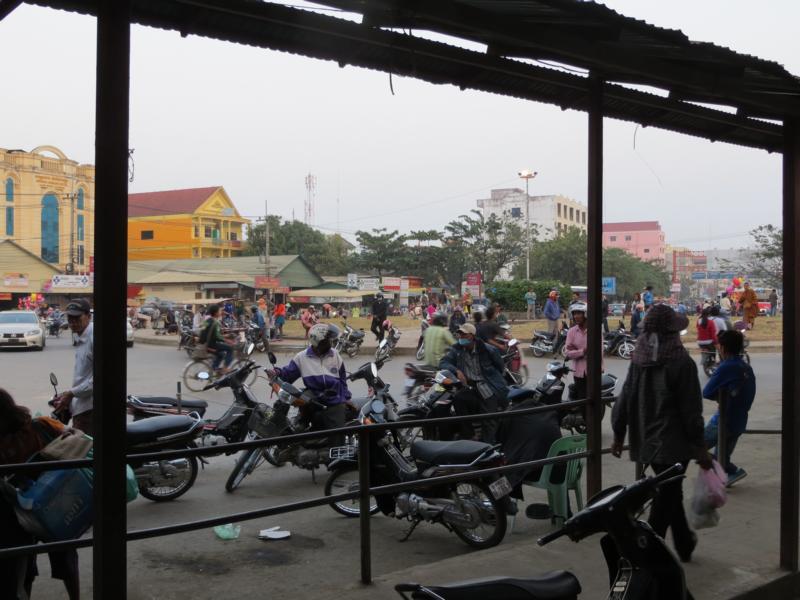 Strassenverkehr in Kambodscha