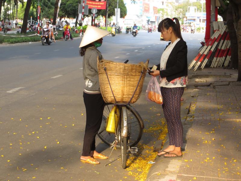Verkaufen direkt ab Fahrrad