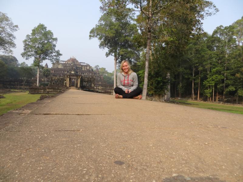 alleine Angkor Wat erkunden