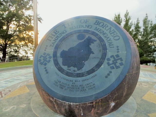 Die Spitze Borneos