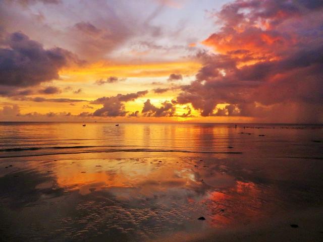 Sonnenuntergan in Kudat, Borneo