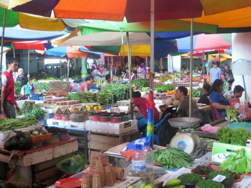 Markt in Sibu