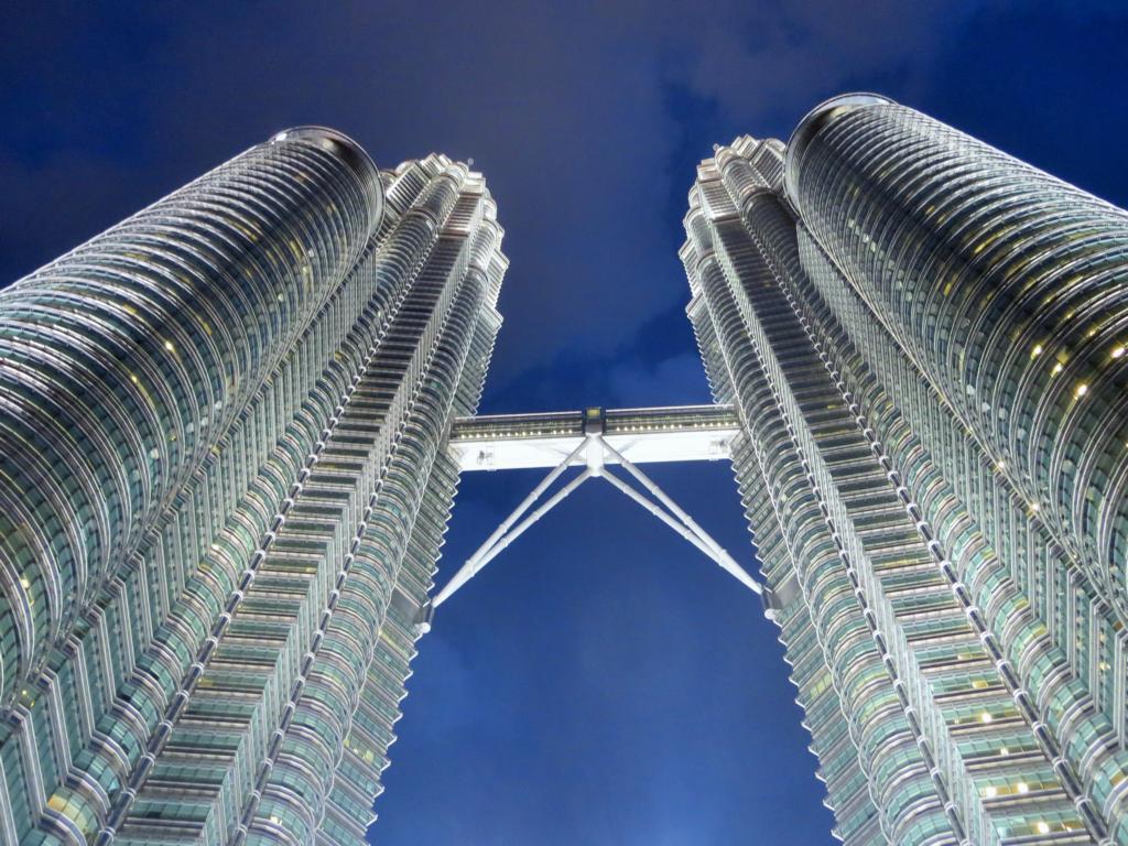 Die Petronas Twin Towers in Kuala Lumpur