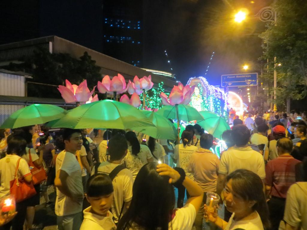 Lotusblumen zum Wesak Day