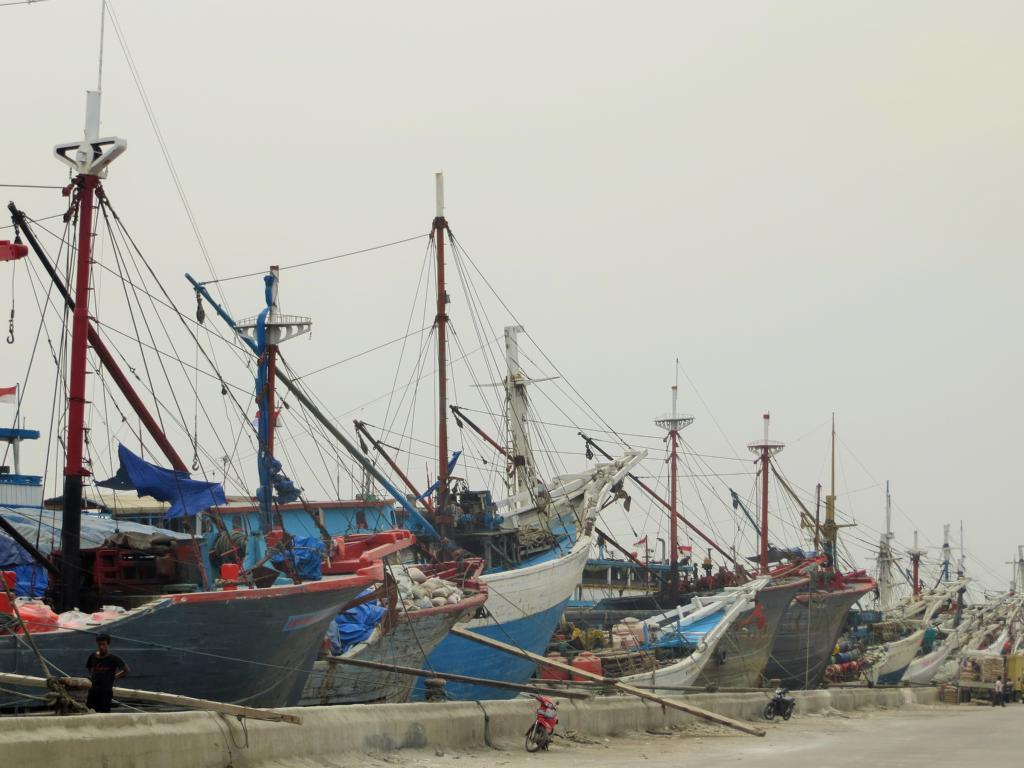 Der Hafen Sunda Kelapa in Jakarta