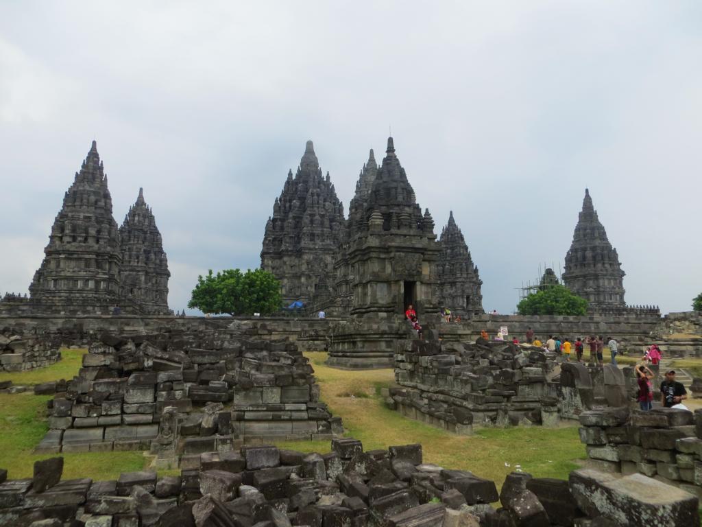 Die Prambanan Tempelanlage in Java
