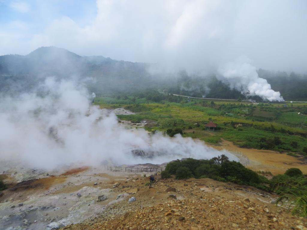 Der Sikidang Krater in Dieng