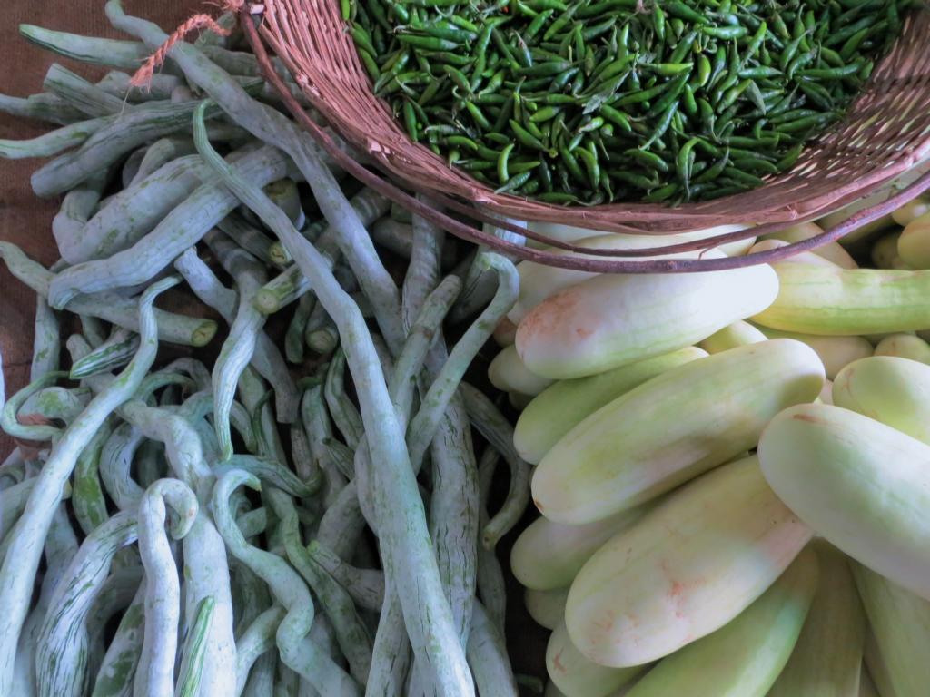 Gemüse auf dem Pettah Markt in Colombo
