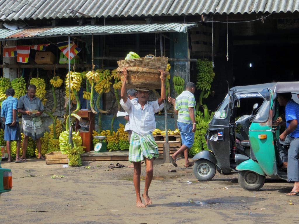 Arbeiter auf dem Pettah Markt