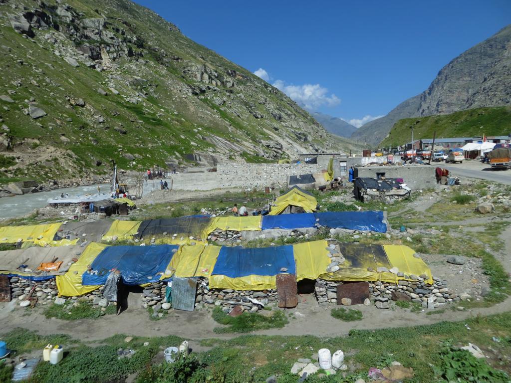 Gastarbeiter in den Bergen von Ladakh