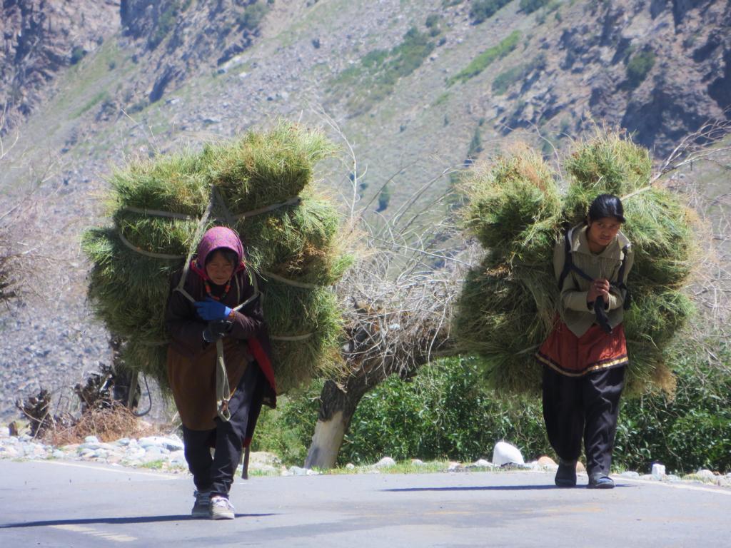 Bäuerinnen in Jispa