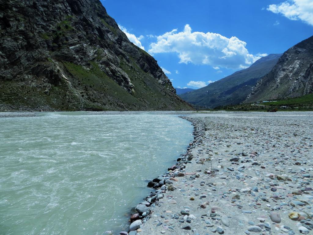 Fluss in Jispa, Zwischenstation auf dem Weg nach Ladakh