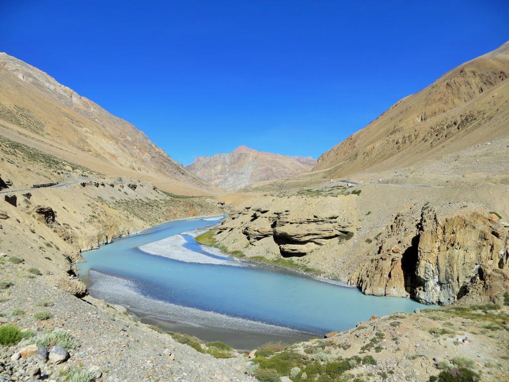 unglaubliche Farben in Ladakhs Bergen