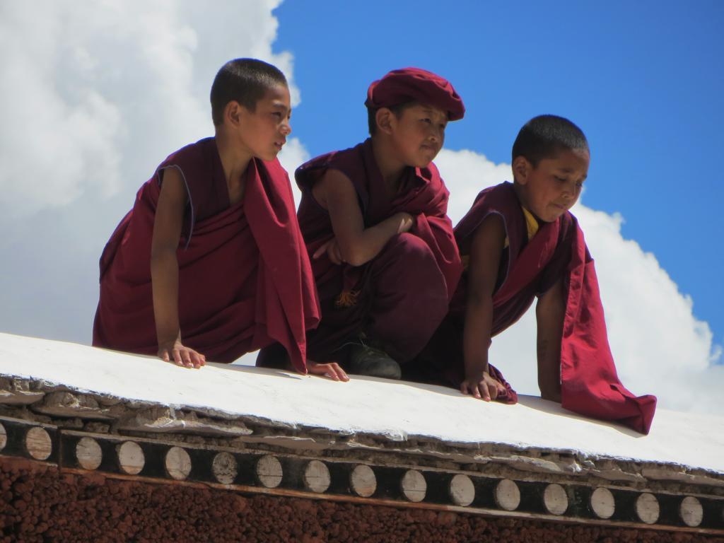 junge Mönche im Kloster Hemis in der Nähe von Leh