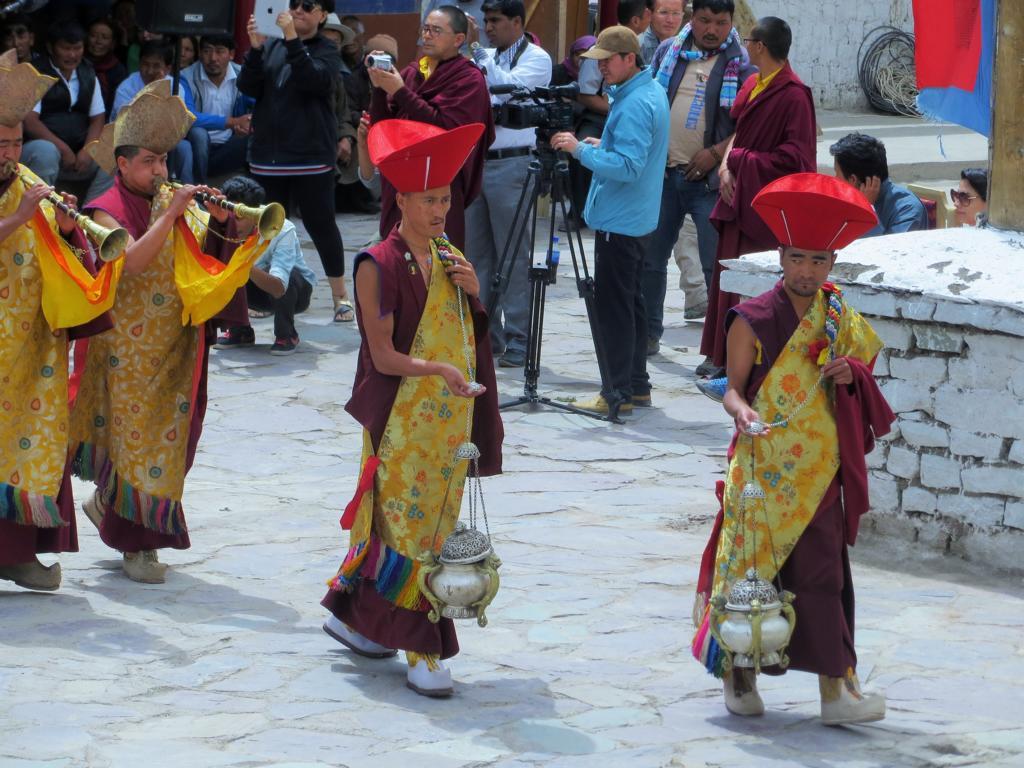 Feierlichkeiten im Kloster Hemis bei Leh