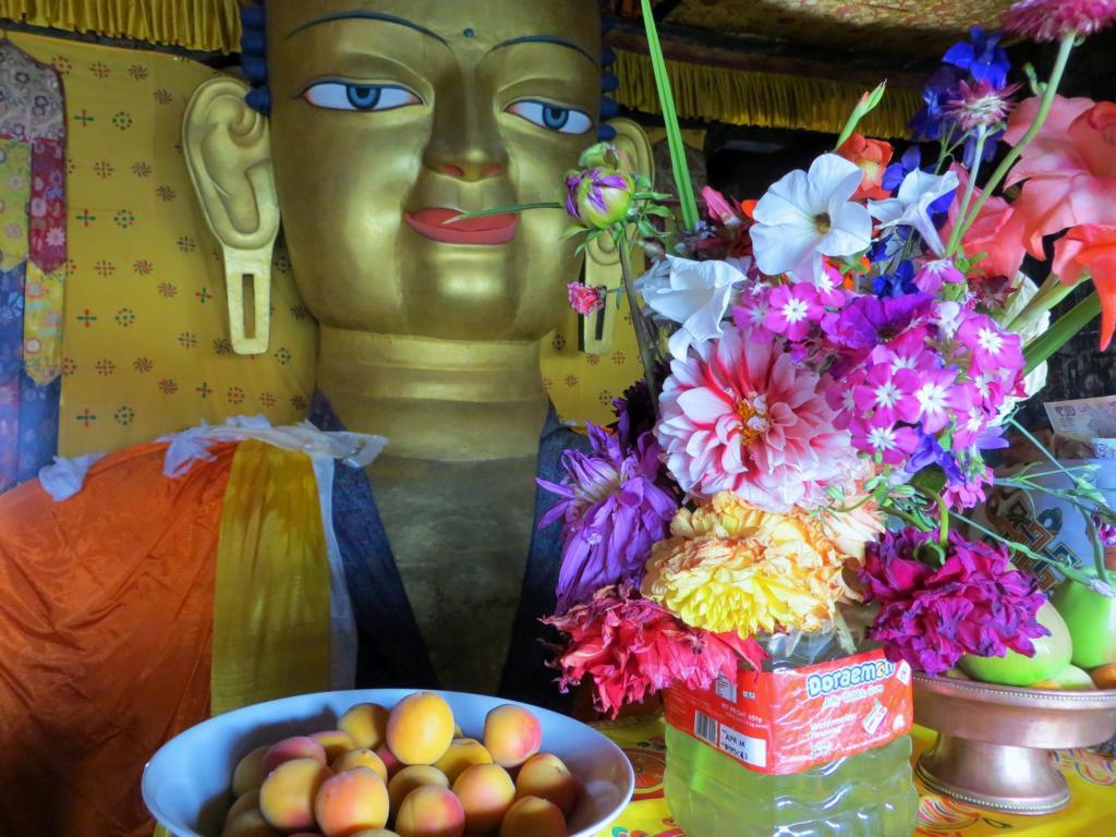 Buddhastatue im Shey Palast bei Leh