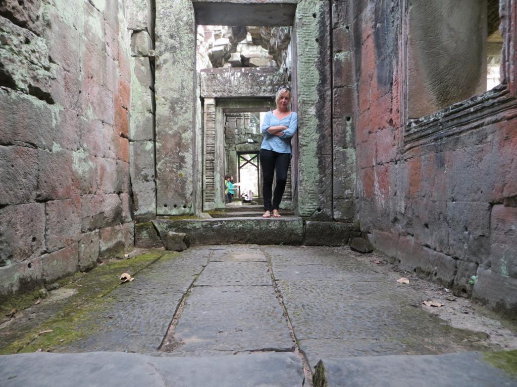 In der Angkor Wat Tempelanlage
