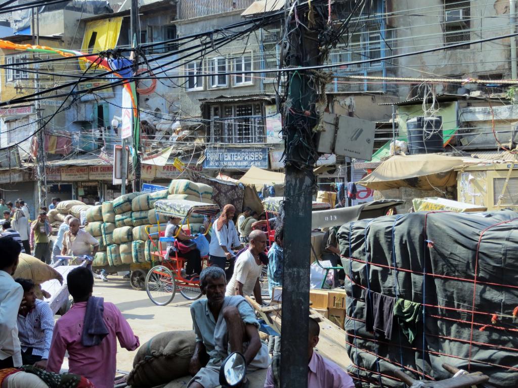 Strassenbild in Indien