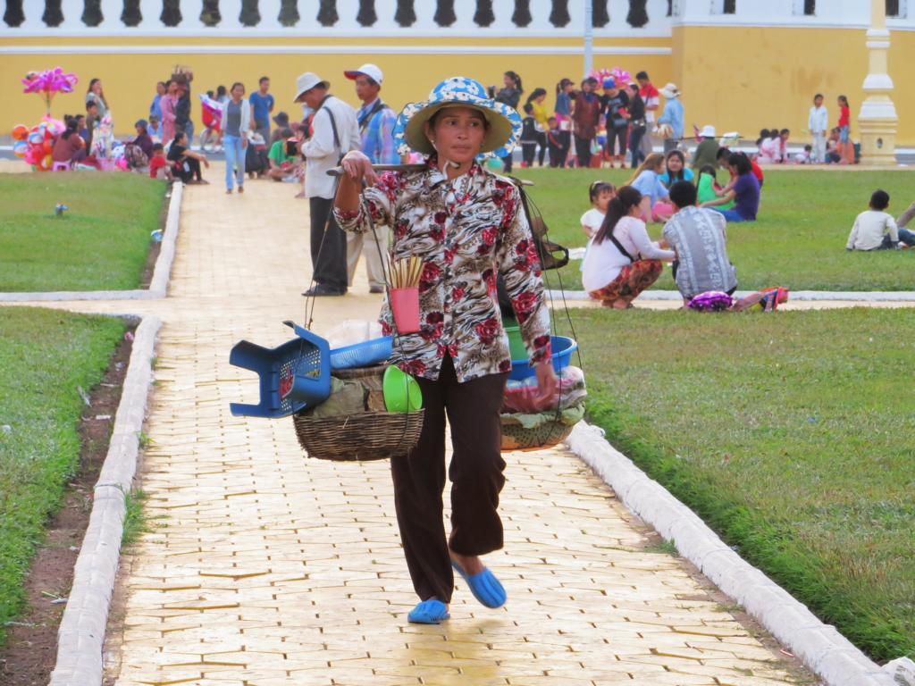 Verkäuferin in Phnom Penh