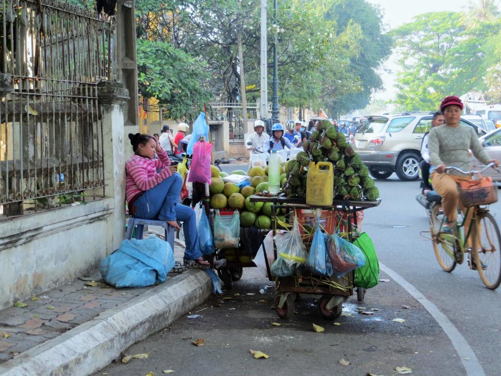 Strassenstand in Phnom Penh