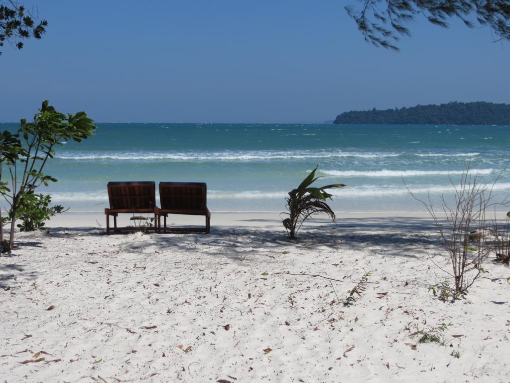 Traumstrand in Koh Rong Samloem in Kambodscha