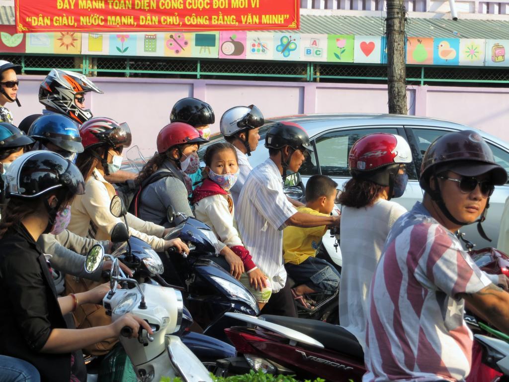 chaotischer Verkehr in Ho-Chi-Minh City