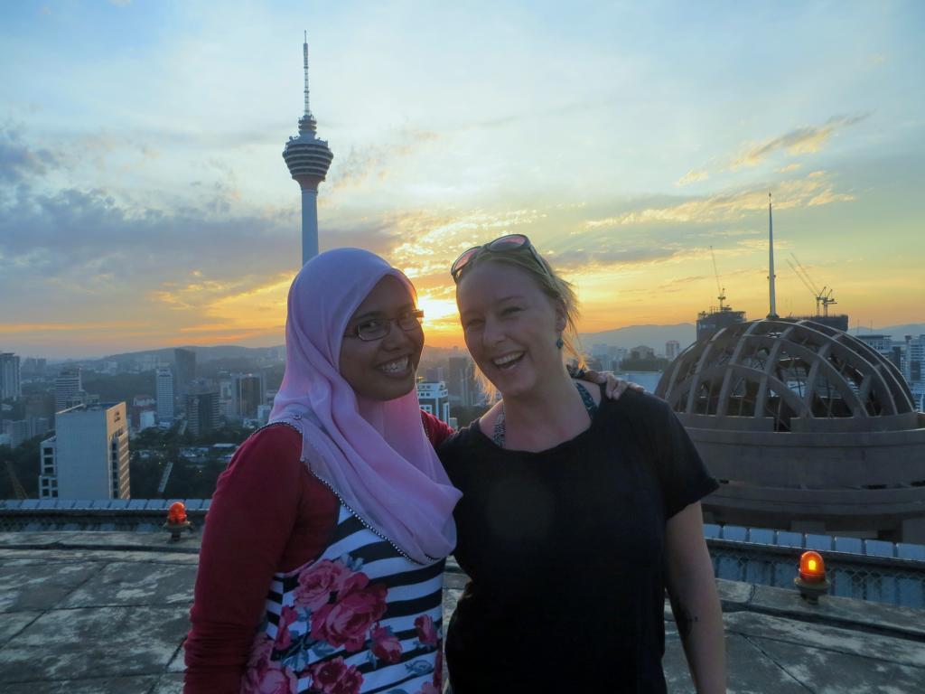Mit Lina in Kuala Lumpur