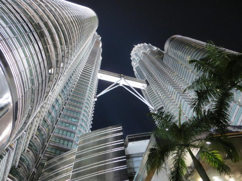 Die Petronas Twin Towers, Wahrzeichen von Kuala Lumpur
