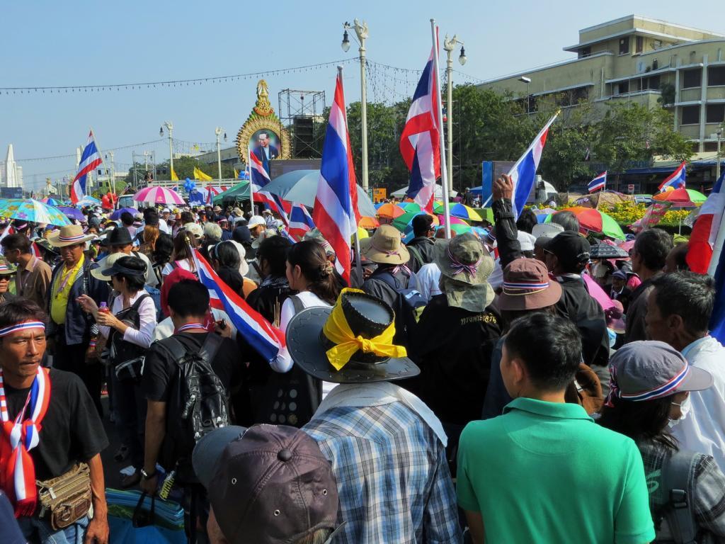 Regierungsproteste in Bangkok