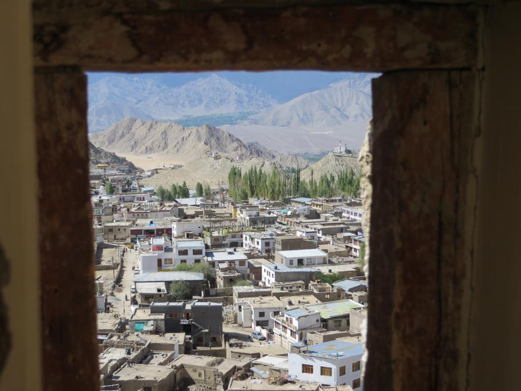 Leh, eine Stadt im indischen Himalaya