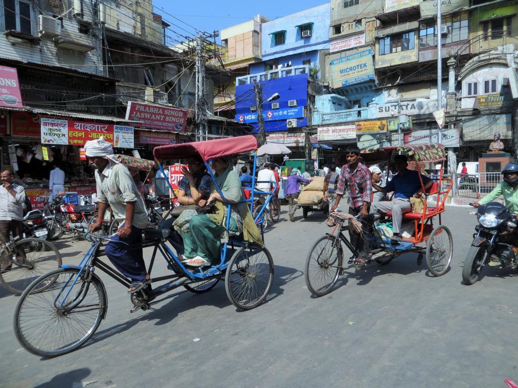 Das übliche Strassenchaos in Old Delhi