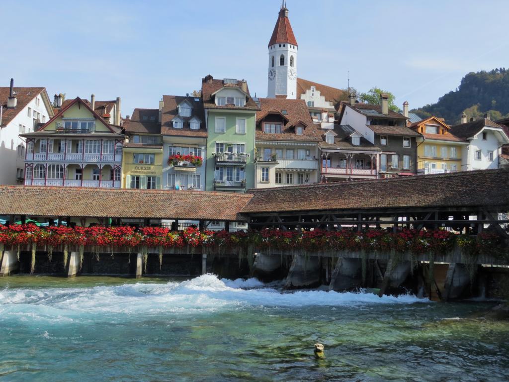 Thun, hübsche Kleinstadt in der Schweiz