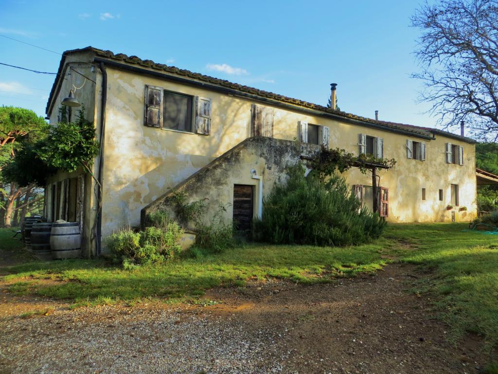 Das Haus meiner Wwoofing Gastgeber. Ein richtiges italienisches Landhaus...