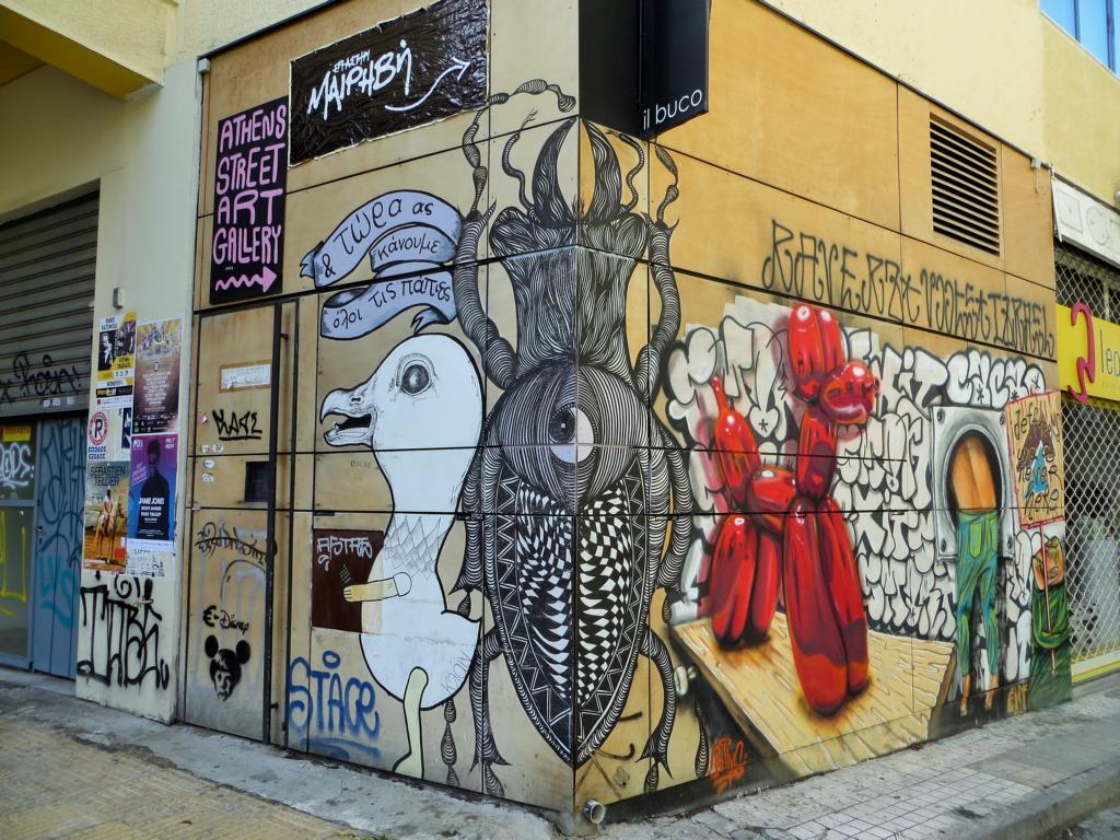Streetart in Psiri