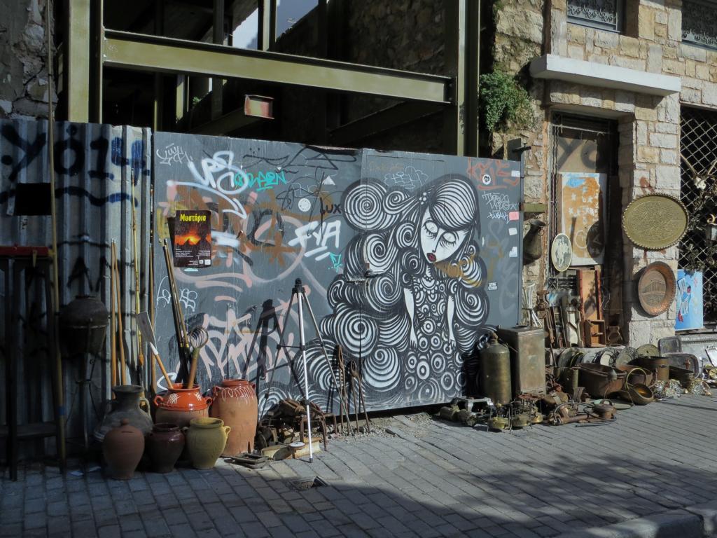 Strassenkunst ist überall in Athen!