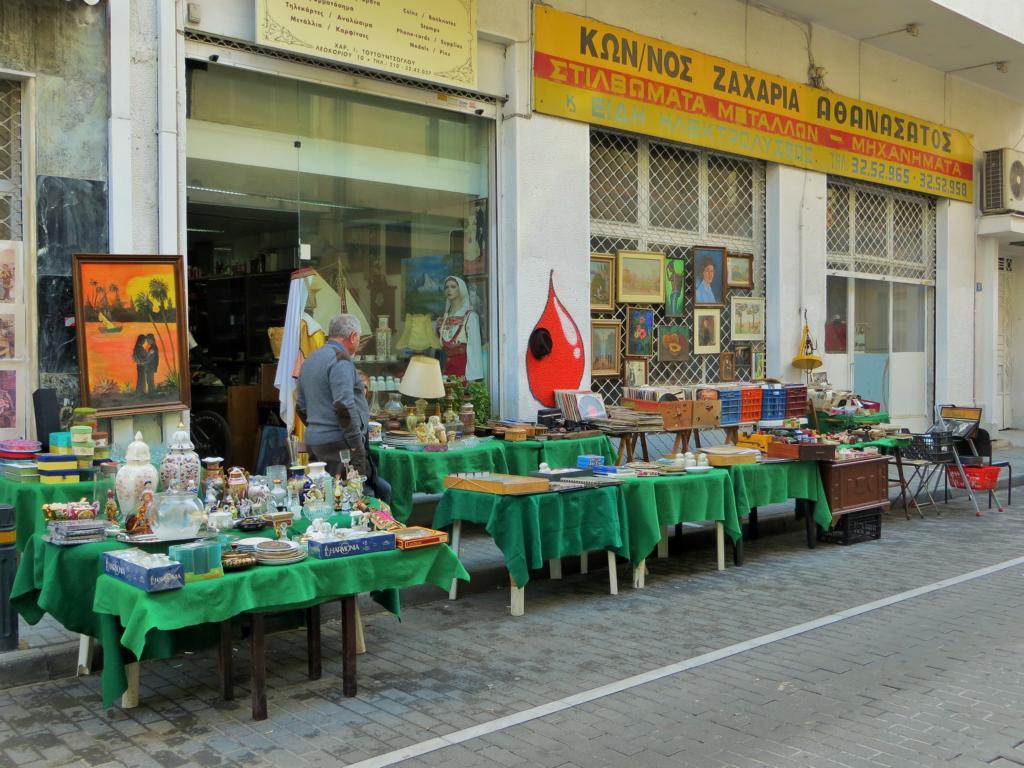 Sonntäglicher Flohmarkt in Monastiraki