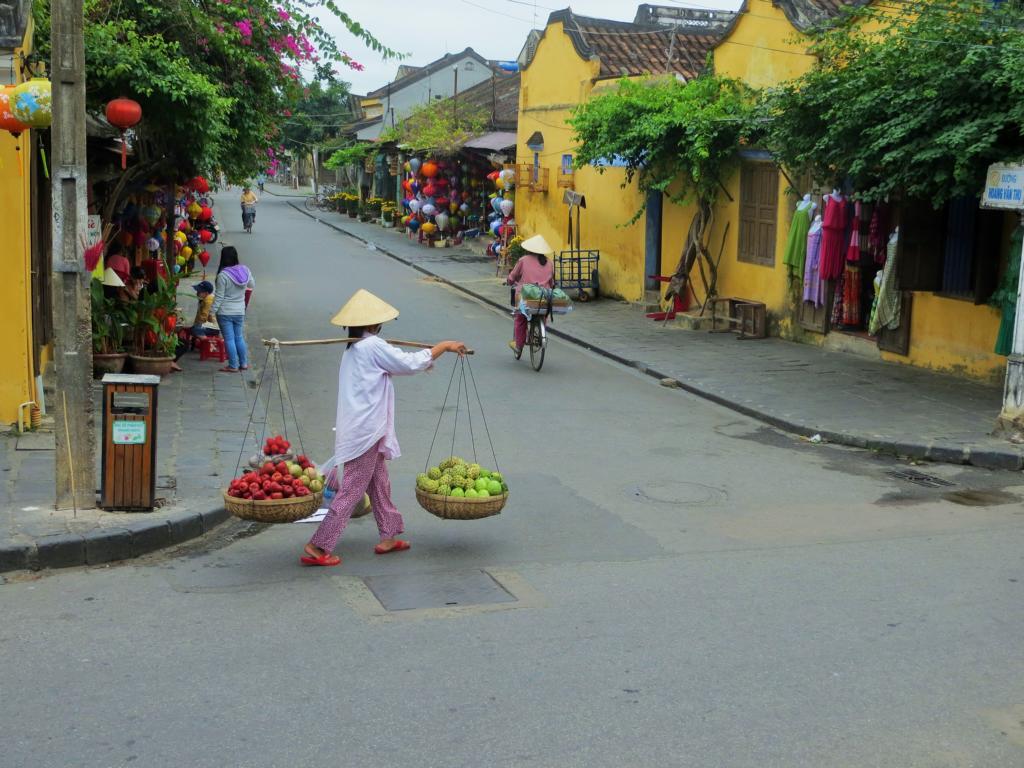 In den Strassen von Hoi An in Vietnam