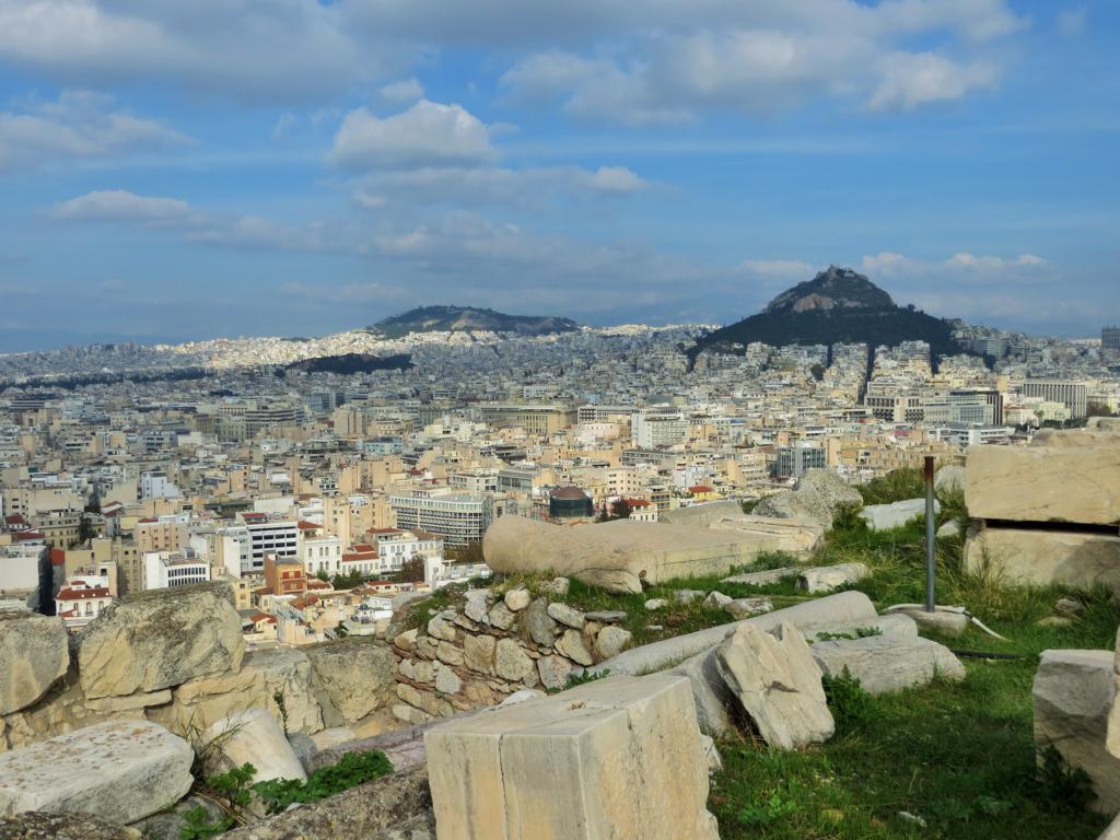 Von der Akropolis hast du eine wunderbare Sicht über Athen