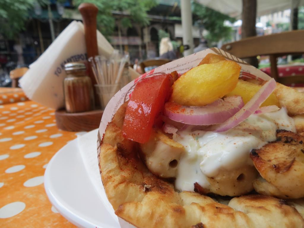 Souvlaki Pita - ein Highlight in Griechenland